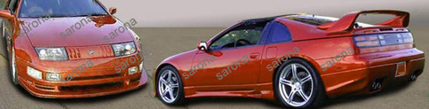 1990-1996 Nissan 300zx Sarona Body Kit - Side Skirts