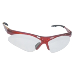 2004-2007 Ford Freestar SAS Safety Diamondback Safety Glasses With Red Frame and Clear Lens in a Polybag