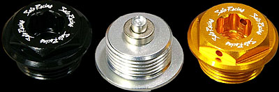 Fits Most Ducati Models Sato Racing Oil Drain Bolt - Round - Size: M22 / P-1.5 - Silver