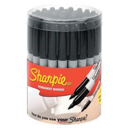 Universal (All Vehicles) Sharpie 36 Piece Black Sharpie Canister Display
