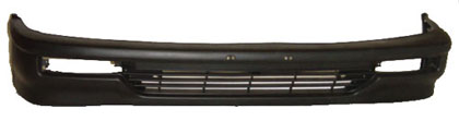 90-91 Civic Hatch Back Sherman Bumper Cover Textured (Black) - Front