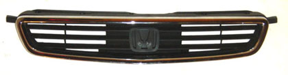 96-98 Civic Sedan Sherman Grills (Metallic Black) - w/ Chr Moulding