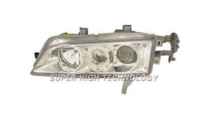 98-02 Honda Accord SHT Headlights - Clear Projectors w/ Rim (Chrome Housing)