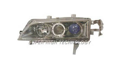 94-97 Honda Accord SHT Headlights - Blue Projectors w/ Rim (Gunmetal Housing)