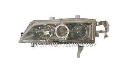 94-97 Honda Accord SHT Headlights - Clear Projectors w/ Rim (Gunmetal Housing)