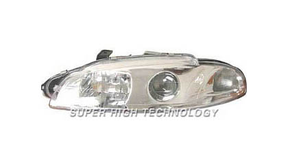 97-99 Mitsubishi Eclipse SHT Headlights - Clear Projectors (Chrome Housing)