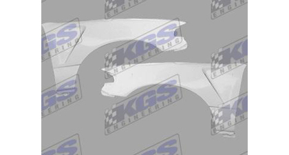 88-91 Honda Crx Silk Automotive Fiberglass Fenders - F1