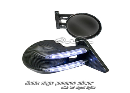 03-05 350z Silk Automotive Mirrors - Diablo Power (Carbon Fiber)