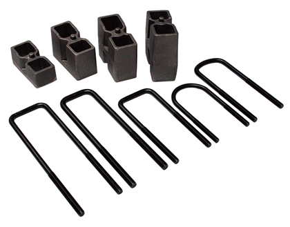"84-90 Ford Bronco II Skyjacker Block and U-Bolt Kit - 3.5"" Rear"