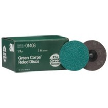 "1979-1982 Ford LTD 3M Green Corps Roloc Discs, 3"" - 24 Grit"