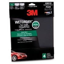 "1973-1978 Mercury Colony_Park 3M Wetordry 9"" x 11"" Sandpaper - 4 Pack"