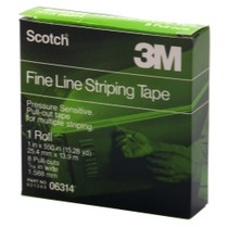 "1966-1967 Ford Fairlane 3M Scotch® Fine Line Striping Tape, 8 Pull Outs, 1"" x 550 """