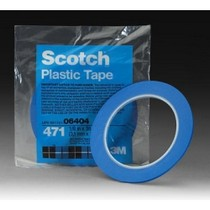 Universal (All Vehicles) 3M Scotch® Plastic Tape 471, Blue, 1/8