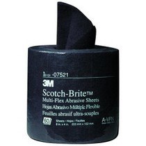 "1968-1976 BMW 2002 3M Scotch-Brite Multi-Flex Abrasive Sheet Roll, 4"" x 8"", 60 Sheets per Roll"