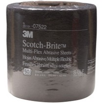 "1968-1976 BMW 2002 3M Scotch-Brite Multi-Flex Abrasive Sheet Roll, Ultra Fine, 8"" x 20'"