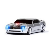 2003-2009 Toyota 4Runner Four Doors Media Camaro (Silver With Black Stripes) Wireless Mouse