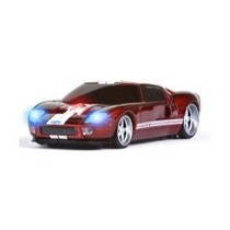 2003-2009 Toyota 4Runner Four Doors Media Ford GT (Red With White Stripes) Wireless Mouse