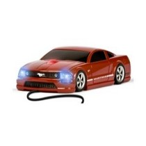1968-1984 Saab 99 Four Doors Media Mustang GT (Red) - Wired Mouse