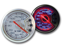 1998-2000 Ford Ranger AC Autotechnic Gauges - D5 Gauge 2 inch Water Temperature - Black