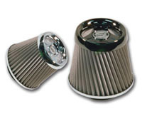 1980-1987 Audi 4000 AC Autotechnic Air Filters - T3 Stainless Steel 70MM (Chrome)