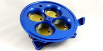 4500 Squarebore Pattern 4-Barrel Muscle Car (Universal) Accufab 4-Barrel 4500 Throttle Body - Blue