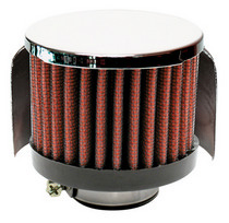 All Jeeps (Universal), Universal - Fits All Models Airaid Rubber Top Crankcase Breather Filters - Chrome Top 1.375