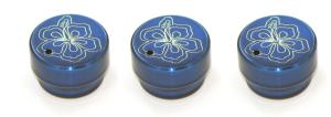 92-96 Ford F150, 94-04 Ford Excursion, 94-04 Ford F250, 94-04 Ford Ranger AllSales Interior Dash Knobs - Hibiscus (Blue)
