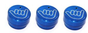02-08 Dodge Fullsize Truck, 02-08 Dodge Pickup AllSales Interior Dash Knobs - Hang Loose (Blue)