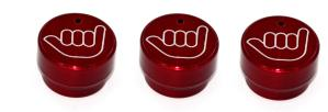 02-08 Dodge Fullsize Truck, 02-08 Dodge Pickup AllSales Interior Dash Knobs - Hang Loose (Red)