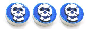 98-01 Dodge Fullsize Truck, 98-01 Dodge Pickup AllSales Interior Dash Knobs - Skull (Blue)