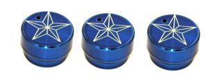 98-01 Dodge Fullsize Truck, 98-01 Dodge Pickup AllSales Interior Dash Knobs - Star (Blue)