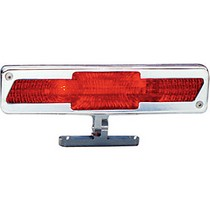 1961-1966 Ford F250 AllSales Pedestal Third Brake Light - Bow-Tie Style (Brushed)