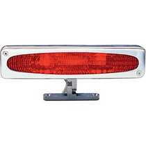 2003-2008 Nissan 350z AllSales Pedestal Third Brake Light - Oval Style (Brushed)