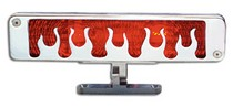 2006-2008 BMW 7_Series AllSales Pedestal Third Brake Light - Flame Style (Brushed)