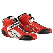 1988-1994 Audi V8 Alpinestars Tech 1-T Shoes - Red Black - Size 10.5 (US)