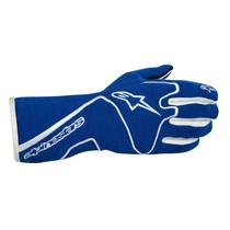 1987-1993 Volvo 240 Alpinestars Tech 1 Race Gloves - Blue White - Size L (US)