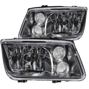 1999 2005 Volkswagen Jetta Mk4 Anzo Crystal Headlights Black Witho Bulbs