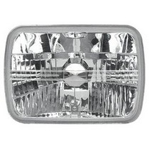 "1953-1957 Chevrolet Two-Ten APC 7.5"" X 5.5"" Square Diamond H-4 Replacement Conversion Head Lamps (Clear)"