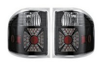 2004-2008 Ford F150 APC Diamond Cut Tail Lamps (Black Housing)