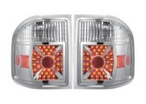 2004-2008 Ford F150 APC Diamond Cut Tail Lamps (Chrome Housing)