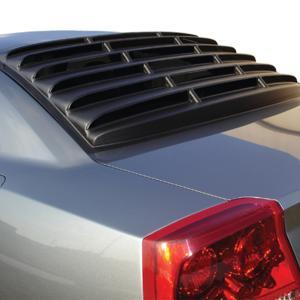 Fits 11-20 Dodge Charger V2 Style Window Scoop Side Louver Carbon Fiber Print PP