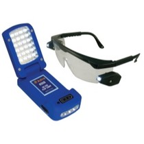 1965-1968 Mercury Colony_Park Astro Pneumatic 28 LED Flip Light With LED Lighted Safety Glasses
