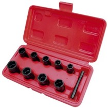"1979-1983 Datsun 280ZX Astro Pneumatic 9 Piece 3/8"" Drive Twist Socket Damaged Fastener Remover Set"