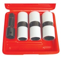 "1979-1983 Datsun 280ZX Astro Pneumatic 4 Piece 1/2"" Drive Thin Wall Flip Impact Socket Set With Protective Sleeves"
