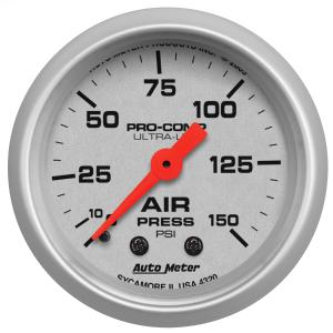 2008-9999 Smart Fortwo Auto Meter Gauges - Ultra-Lite Series Mechanical Gauge  (Air Pressure: 0-150 PSI)