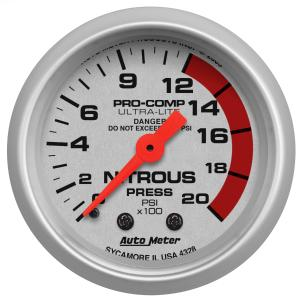 1995-1999 Oldsmobile Aurora Auto Meter Gauges - Ultra-Lite Series Mechanical Gauge (Nitrous Pressure: 0-1600 PSI)