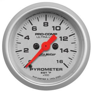 1995-1999 Oldsmobile Aurora Auto Meter Gauges - Ultra-Lite Series Electric Gauge (Full-sweep Pyrometer: 0-1600 degrees F)