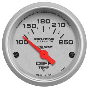 1995-1999 Oldsmobile Aurora Auto Meter Gauges - Ultra-Lite Series Electric Gauge (Differential Temperature: 100-250 degrees F)