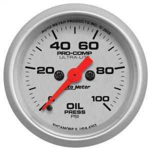 1995-1999 Oldsmobile Aurora Auto Meter Gauges - Ultra-Lite Series Electric Gauge (Oil Pressure: 0-100 PSI)