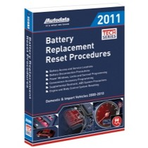 2003-2009 Toyota 4Runner Autodata Battery Replacement Reset Procedure Manual